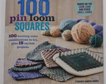 100 Pin Loom Squares -Soft Cover Book