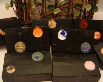 Black Amber and Lavender Galaxy Soap made with Glycerin and Goats Milk