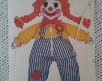 Vintage 80s Butterick Clown Pattern 3510