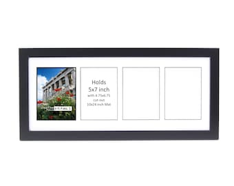 5x7 Multiple 2 3 4 5 6 7 8 9 10 Opening Black Picture Frame with Matting, Multi Opening Photo Frame Collage