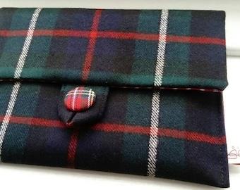 Lesley Tartan Clutch Bag | Tartan Bag | Ladies Evening Bag | Gift for her | Party Bag | Made in Scotland | Gadget bag