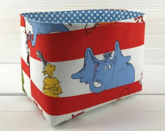 Dr Seuss Nursery Decor Storage Basket Baby Toy Storage Home Decor Organizer Room Decor Baby Shower Gift Dr. Seuss