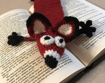 Smashed red fox bookmark