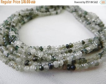 54% Off Sale Green rutilated quartz faceted rondelle beads /3.5mm/12.5 inch strand