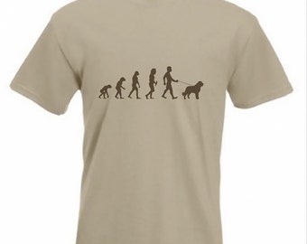 Evolution To St. Bernard t-shirt Funny Dog T-shirt in sizes Sm to 2XXL