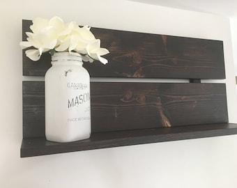 Wooden shelf, Rustic Wall Decor, Rustic wooden shelf, Kitchen shelf, Wooden wall decor, Rustic shelf, Book shelf