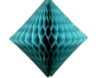 Teal Paper Diamond