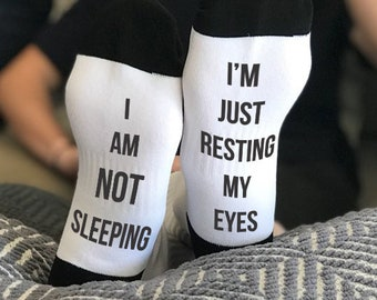 Sleep is Life, Nap, Nap Queen, Nap King, Funny Socks, Socks, Personalized Socks, Custom Socks, Novelty Socks, Cool Socks --62172-SOX1-603