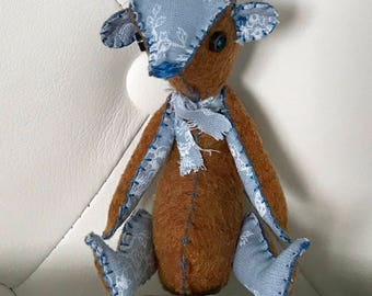 FREE US Shipping Well-loved Teddy Bear for Blythe Pullip Doll Ooak Well Loved