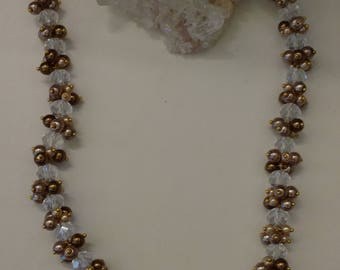 Beautiful and Sparkly Crystal and Pearl Necklace