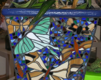 Garden Insect Mosaic Planter