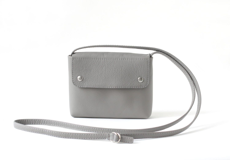Cross Body Bag Small Crossbody Purse Stone Grey Leather