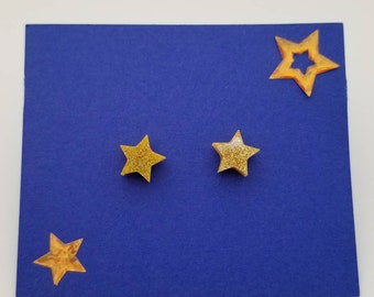 Glitter star acrylic earrings