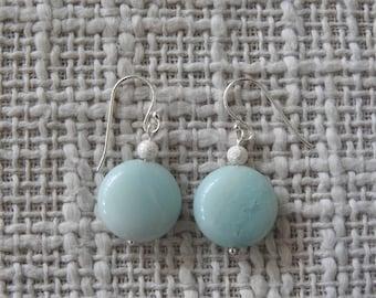 Amazonite Sterling Silver Earrings