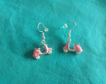 Vespa Earrings with rhinestone Scooter Classic Car
