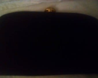 Morris Moskowitz black silk evening bag