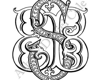 Custom Hand-drawn Monogram