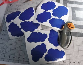 wall appliques decoration, furniture appliques decoration , sticker, decal, nursery, bedroom,, living   clouds