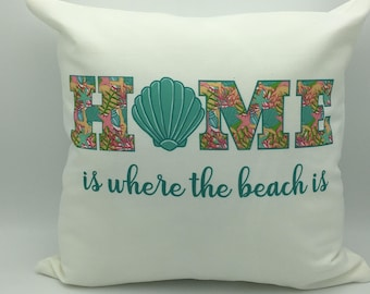 Beach Pillow | Decorative pillow | Beach Decor | Beach Theme pillow | Beach House Decor | Accent Pillow | Personalized Pillow