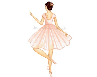 Ballerina art print, Ballerina artwork, Ballet art, Ballerina wall art, Nursery wall decor, Ballet themed nursery, Dance art work