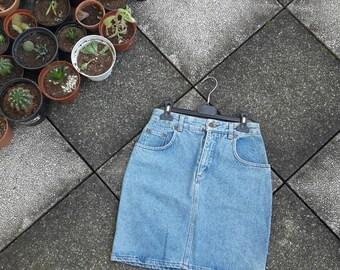 Vintage 80 UNIFORM Jeans Miniskirt