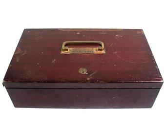Vintage Metal Lockbox