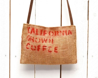 Cross Body Bag 50% OFF Small Purse Long Shoulder Strap Coffee Bag Purse Burlap Bag Eco Friendly