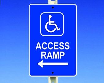 Access Ramp Aluminum Sign