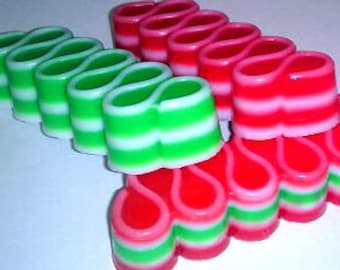 Ribbon Candy Christmas Holiday Soap - Winter - Christmas - Candy - Free U.S. Shipping - You Choose Color/Scent - Stocking Stuffer