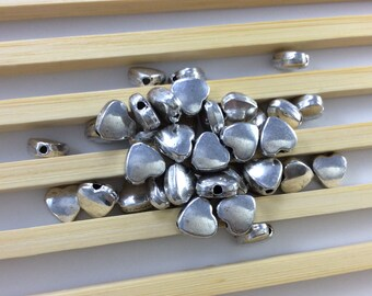 40pcs Antique Silver Heart Beads ,Mini Heart Beads ,Love Beads .7mm*8mm