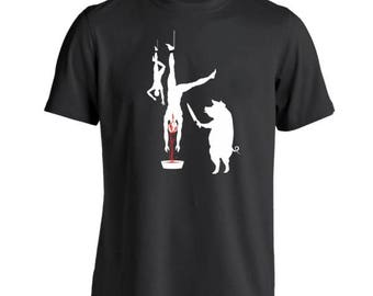 Pig Line Butcher Vegetarian Vegan Funny Humor Basic Men's T-Shirt DT0372