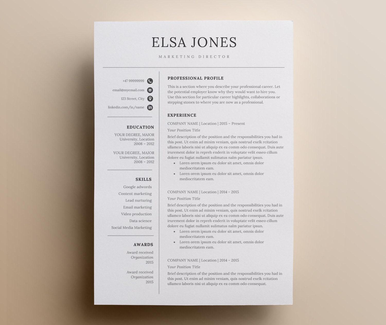 Reanudar la plantilla y carta de presentación conjunto de