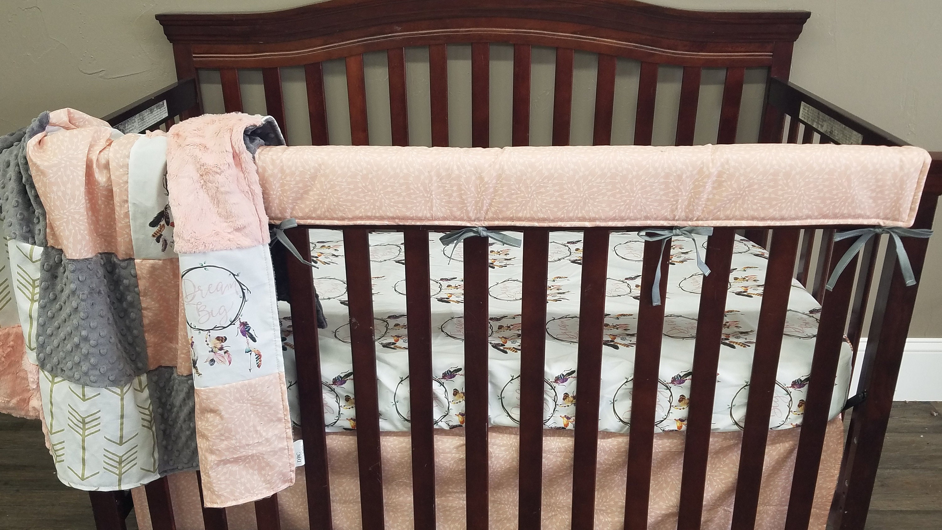 baby gray mint peach birds woodland crib il fullxfull set bedding listing cribs zoom