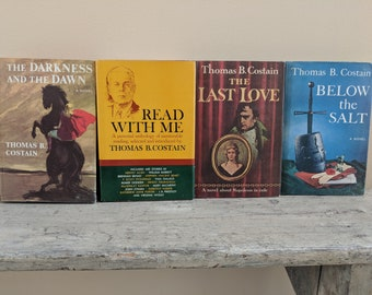 Set of 4 Thomas Costain Historical Novels - Thomas Costain (1960's)