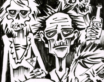 Return from the Dead Drawlloween Day 1 original sketch