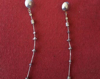 Vintage earrings! Dangling chain earrings from the 90s, SHIPS IMMEDIATELY from USA!