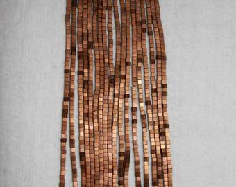Agate, Titanium Agate, Cube Bead, Titanium Cube, Bronze Titanium, Full Strand, 3 mm, AdrianasBeads