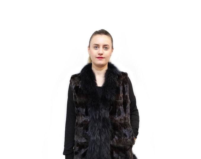 Mink Fur Vest,Fox Vest,Real Mink Fur Vest F423