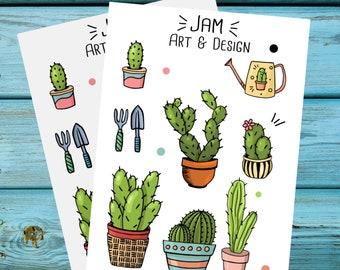 2-pack Cacti Garden sticker set