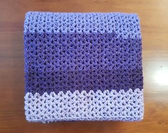 Purple Baby Blanket / Lap Blanket