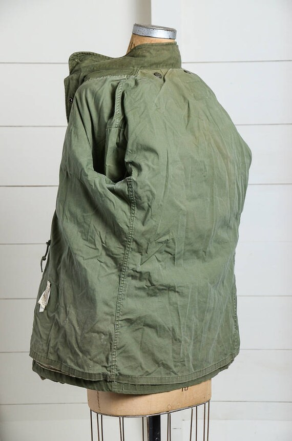 70s Military Parka M-65 US Army Green Boho Stoner Hippie Minimalist Field Jacket