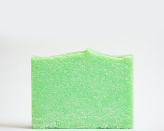 Green Apple Sea Salt Soap | Palm Free Salt Bar, Spa Scented Soap, Vegan Homemade Cold Process Soap, Handmade Soap Gift, Handcrafted Soap