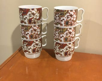 Set of 6 cups, vintage made in Japan