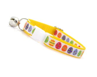 "Easter Cat Collar Breakaway - ""Easter Egg Yellow"" - Yellow Breakaway Cat Collar  / Spring Cat Collar / Cat, Kitten & Small Dog Sizes"