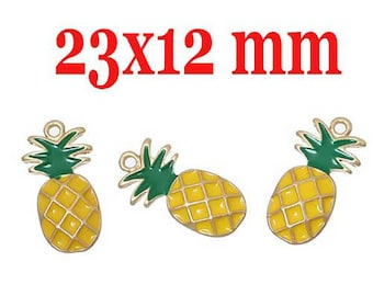 1 charm pineapple 23 x 12 mm