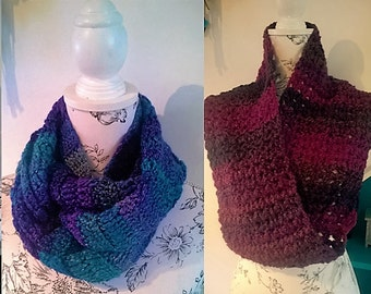 Set of four cosy neck cowl PDF crochet patterns