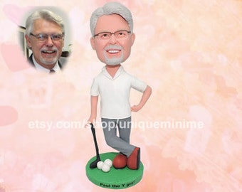 Top Dad Top Gift Mens Custom Bobblehead dolls   Fathers Day Birthday Gift