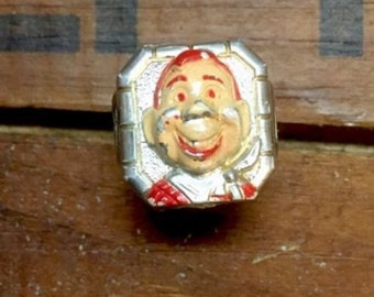 Howdy Doody Ring Silver Plastic Plastic Toy Ring by Kagran