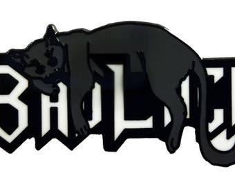 "Bad Luck Black Cat Lover 1.25"" Enamel Pin"