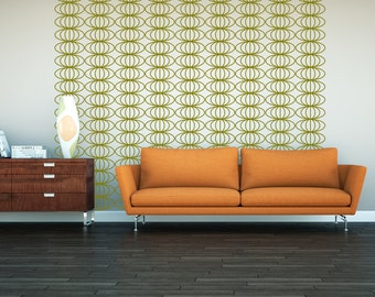 Mid Century Modern Decor, Retro Wall Decal, Geometric Wall Decals, Retro Wall Decor, Modern Nursery Decor, Modern Home Decor, Dorm Decor